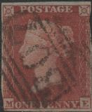 1853 1d Red SG11 Plate 168 'ME' CV